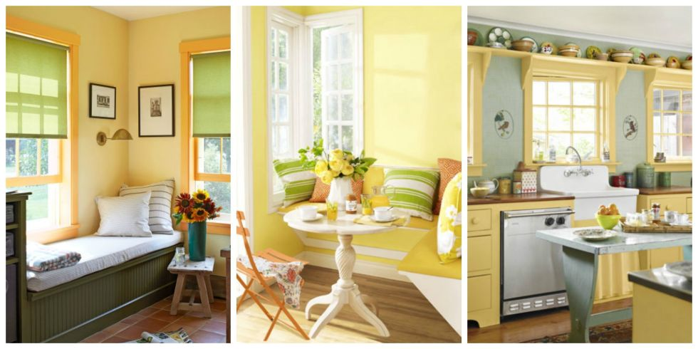 Yellow Walls Pleasing Yellow Decor  Decorating With Yellow Review