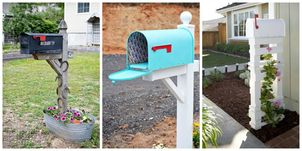 Mailbox Design Ideas microwave mailbox 8 Easy Diy Mailbox Designs Decorative Mailbox Ideas