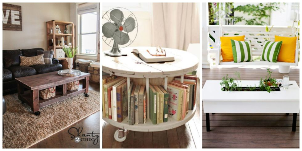 10 DIY Coffee Tables How to Make a Coffee Table