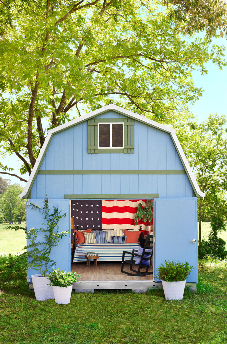 she-shed decorating ideas - how to decorate your backyard shed