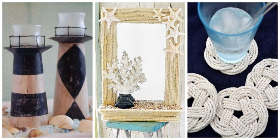 beach themed crafts beach craft ideas - Ocean Themed Home Decor