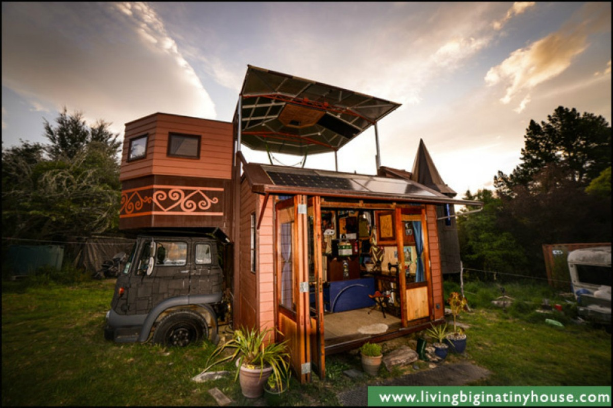 this tiny house on a truck is positively medieval tiny house plans. Black Bedroom Furniture Sets. Home Design Ideas