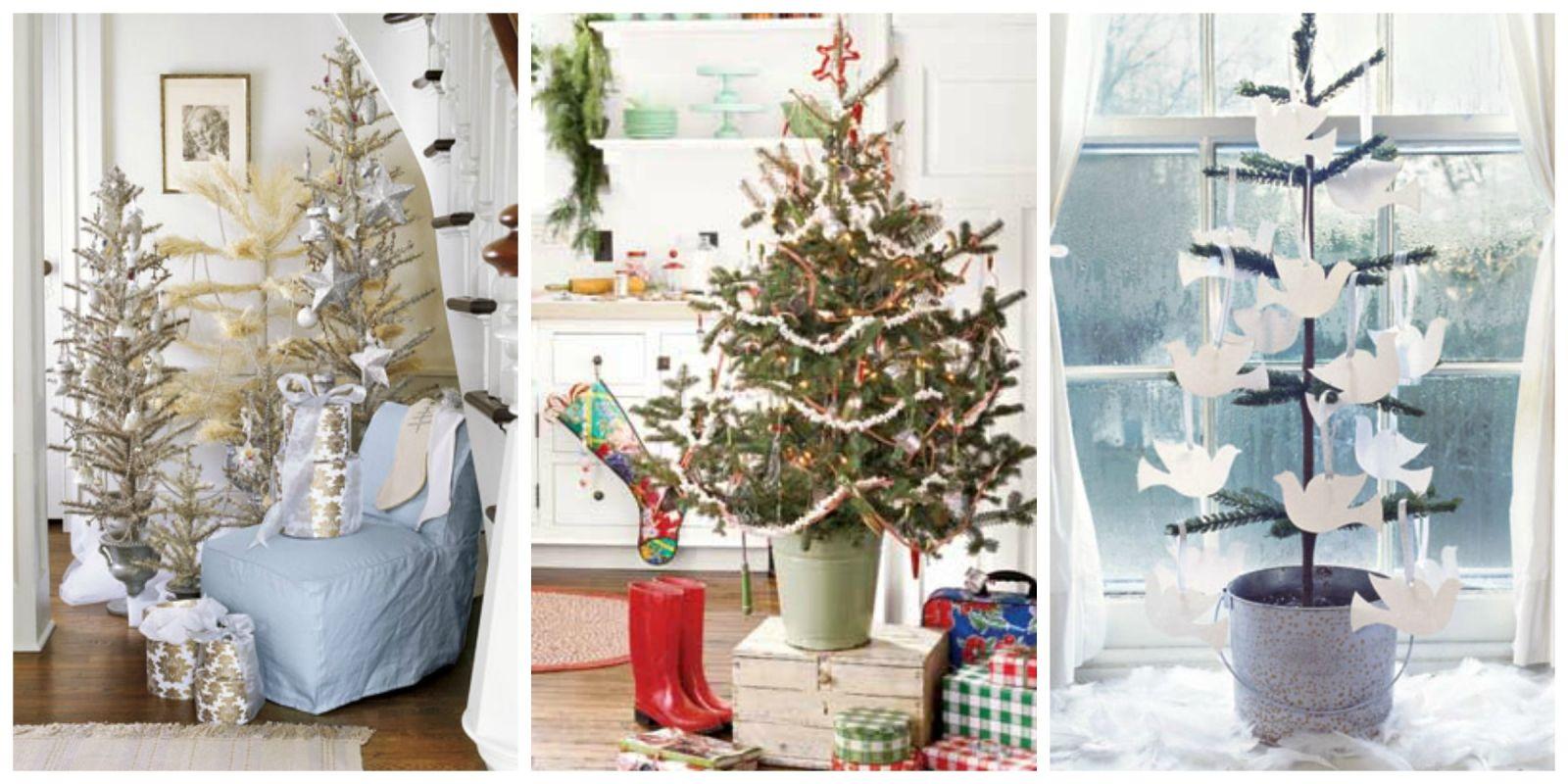 Mini christmas trees ideas for decorating tiny christmas for Small christmas ideas