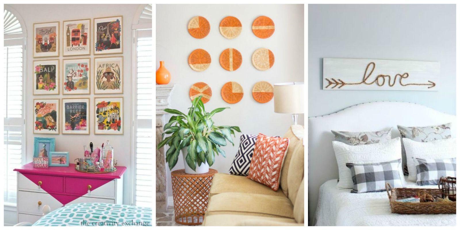 Diy wall art affordable art ideas for Cheap kitchen wall decor ideas