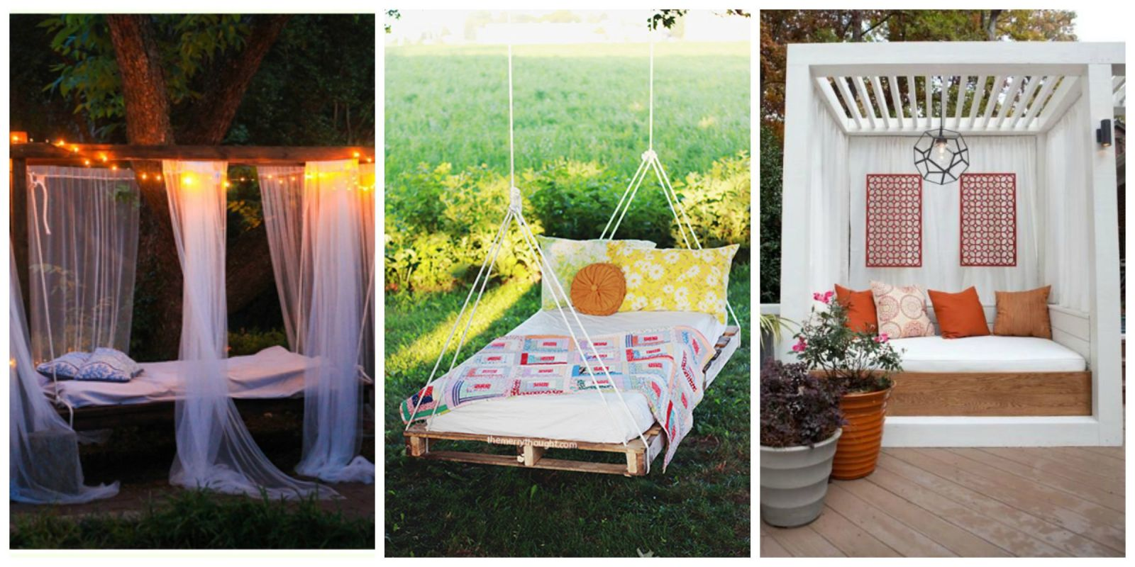 Outdoor bedrooms outdoor decorating for Outdoor summer decorating ideas