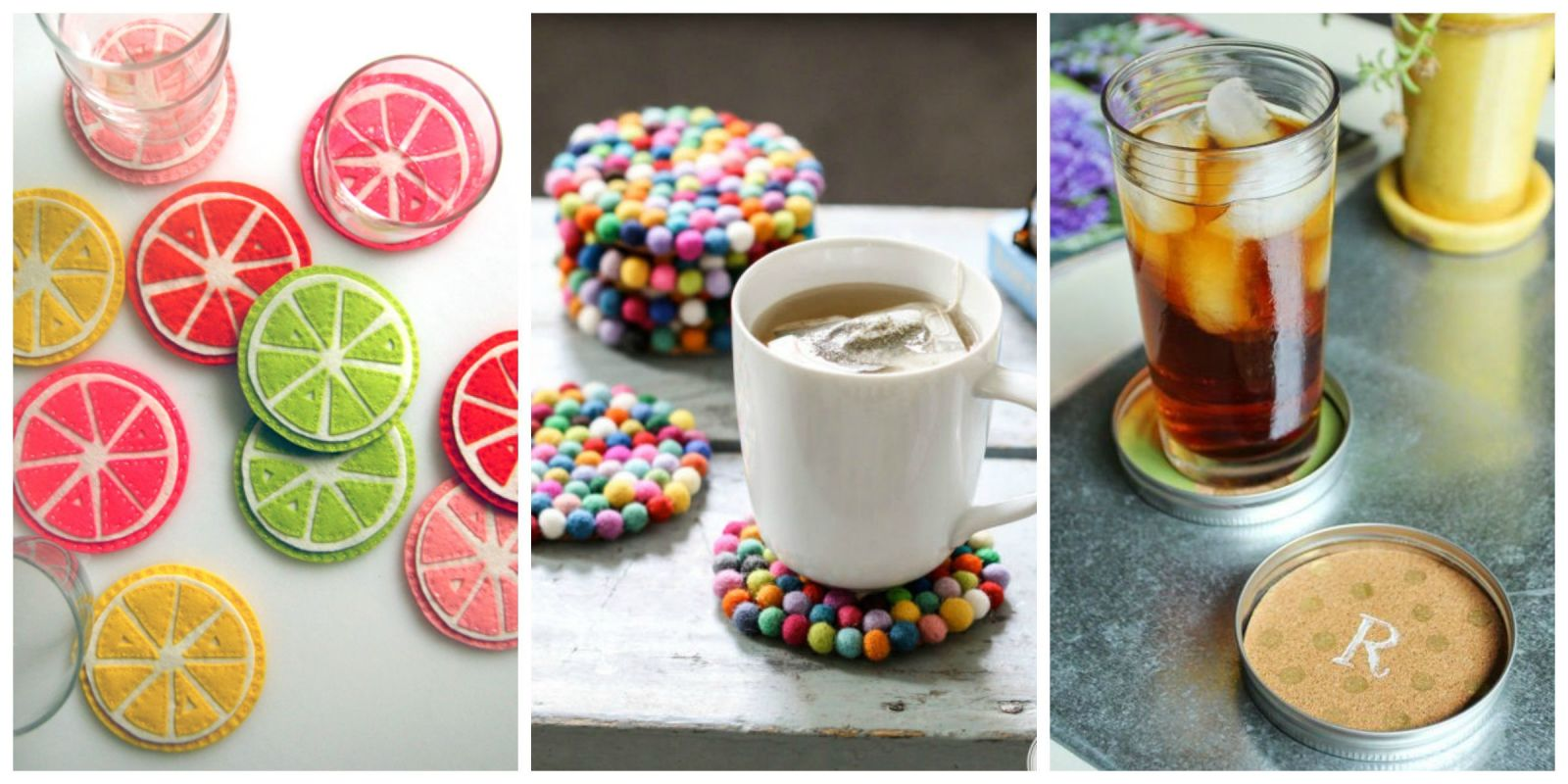 Diy coasters drink coasters for Homemade coaster ideas