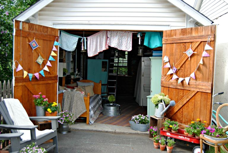 This is the most inspired you'll ever be to give your old shed or garage  new life.