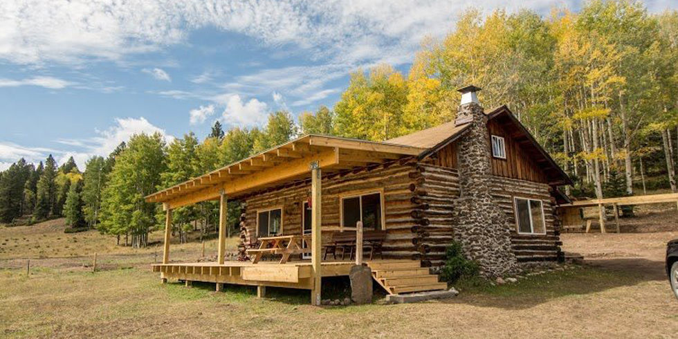 Estately new mexico cabin rustic log cabin for sale for Log cabin builders in california