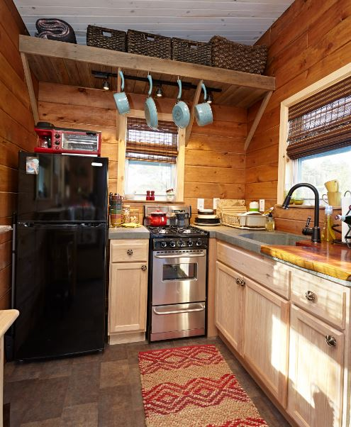 Wind River Tiny House Tiny House with Full Kitchen