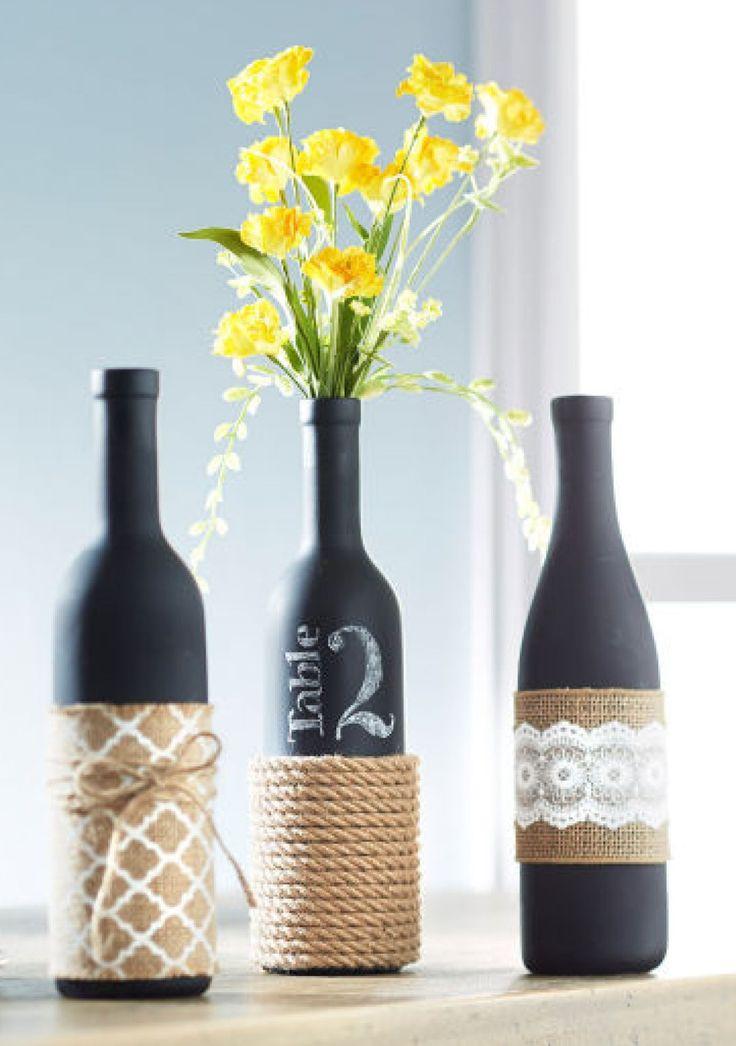 decorated glass bottles.  24 DIY Wine Bottle Crafts Empty Decoration Ideas