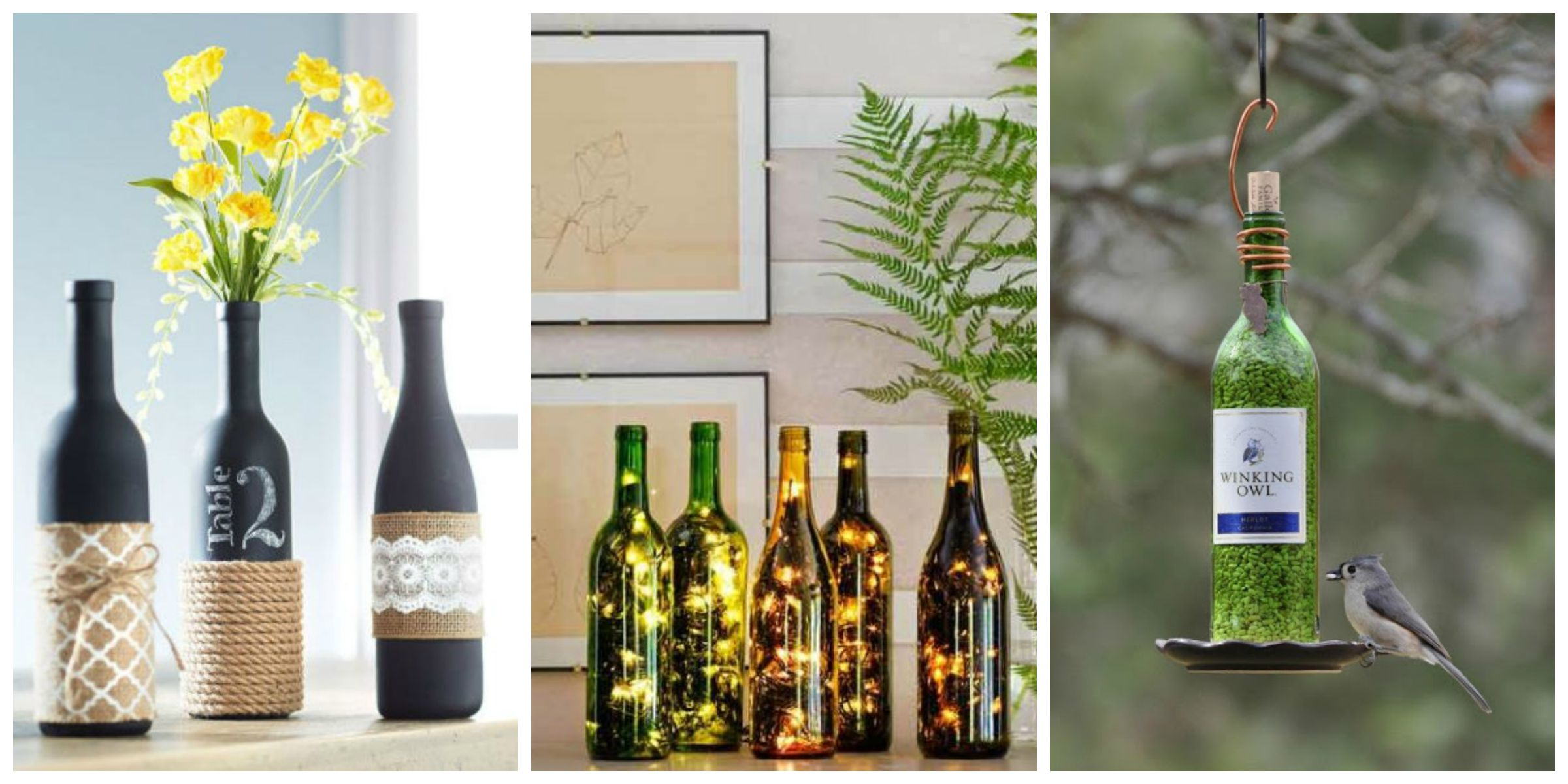 24 diy wine bottle crafts empty wine bottle decoration ideas