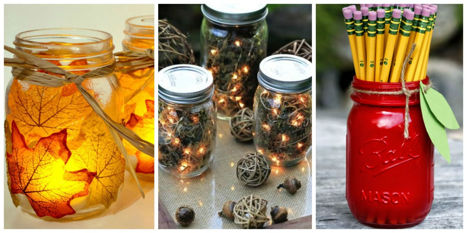 Mason Jar Fall Crafts Autumn Diy Ideas With Mason Jars