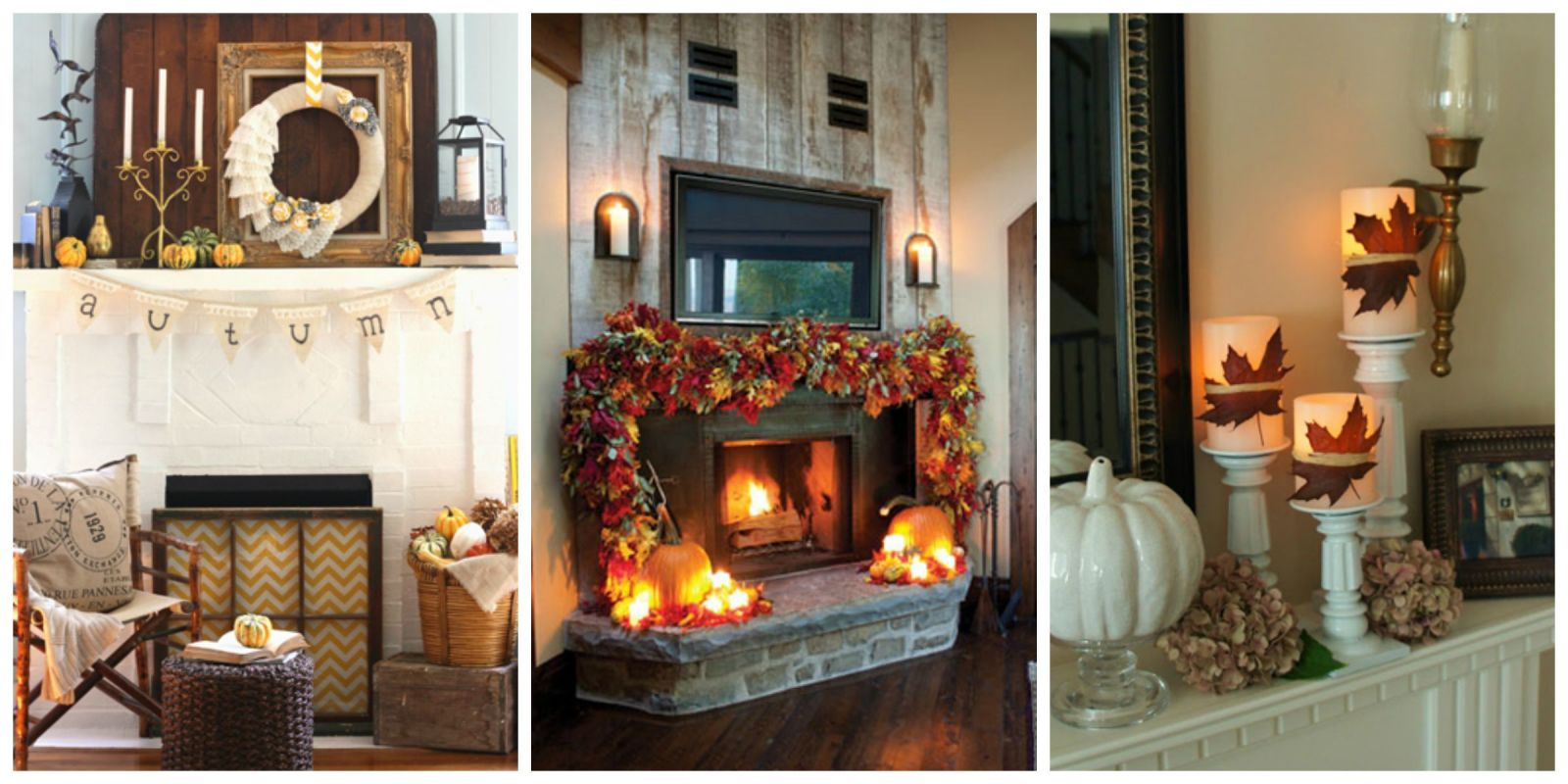 35 fall mantel decorating ideas halloween mantel decorations - Fall Halloween Decorations