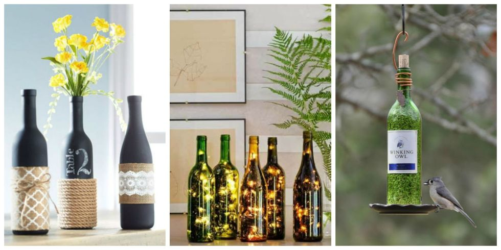 24 Diy Wine Bottle Crafts Empty Wine Bottle Decoration Ideas