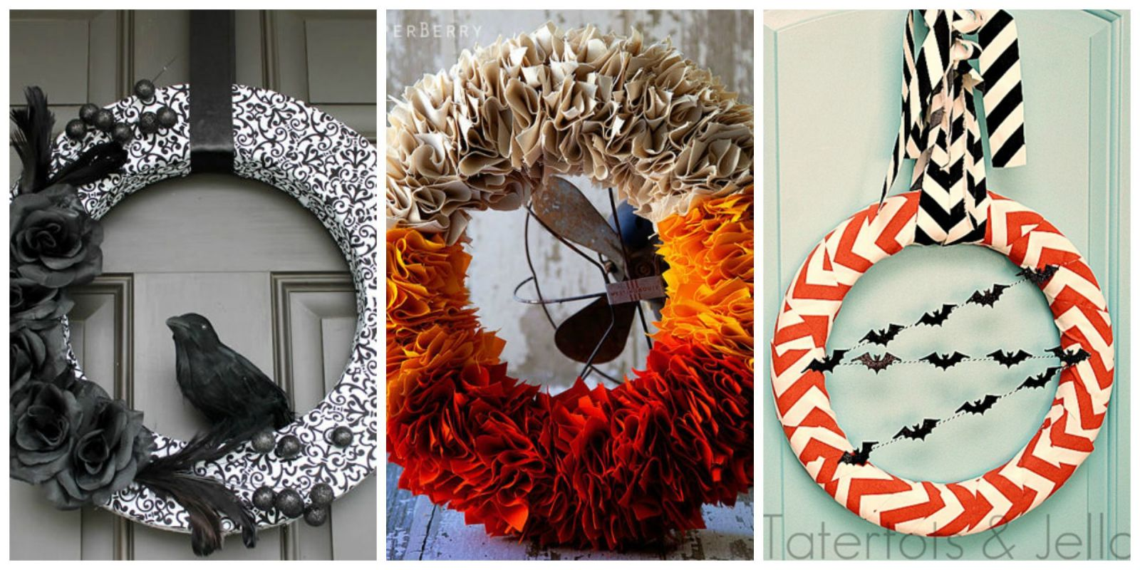 30 Diy Halloween Wreaths How To Make Halloween Door