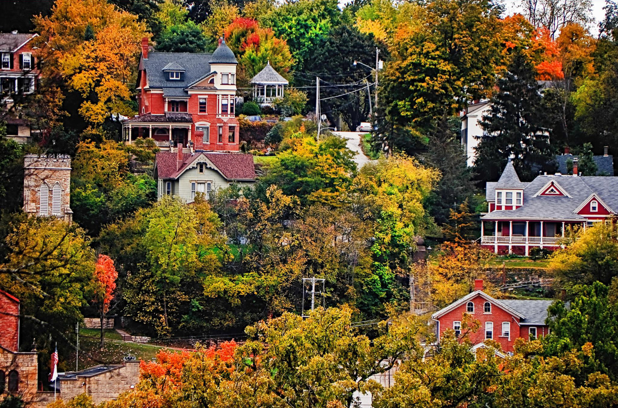 Image gallery most beautiful fall scenery Best villages in america