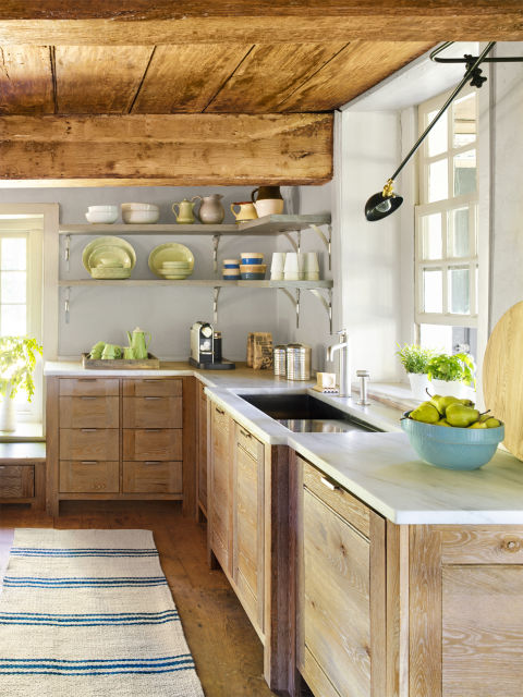 New paltz kitchen reclaimed kitchen decorating ideas for Kitchen cabinets for 7 foot ceilings