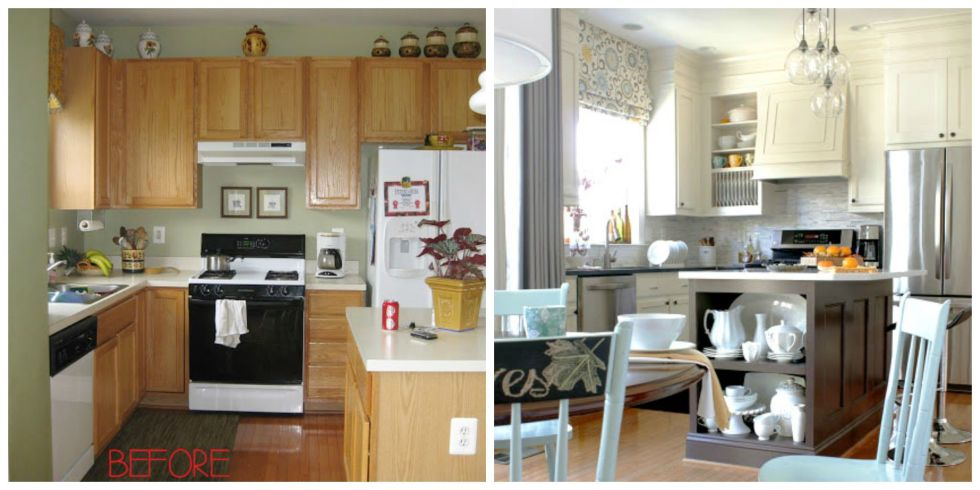 Blogger Cristina of Remodelando la Casa gave her kitchen a serious facelift by extending the height of her cabinets to the ceiling. 