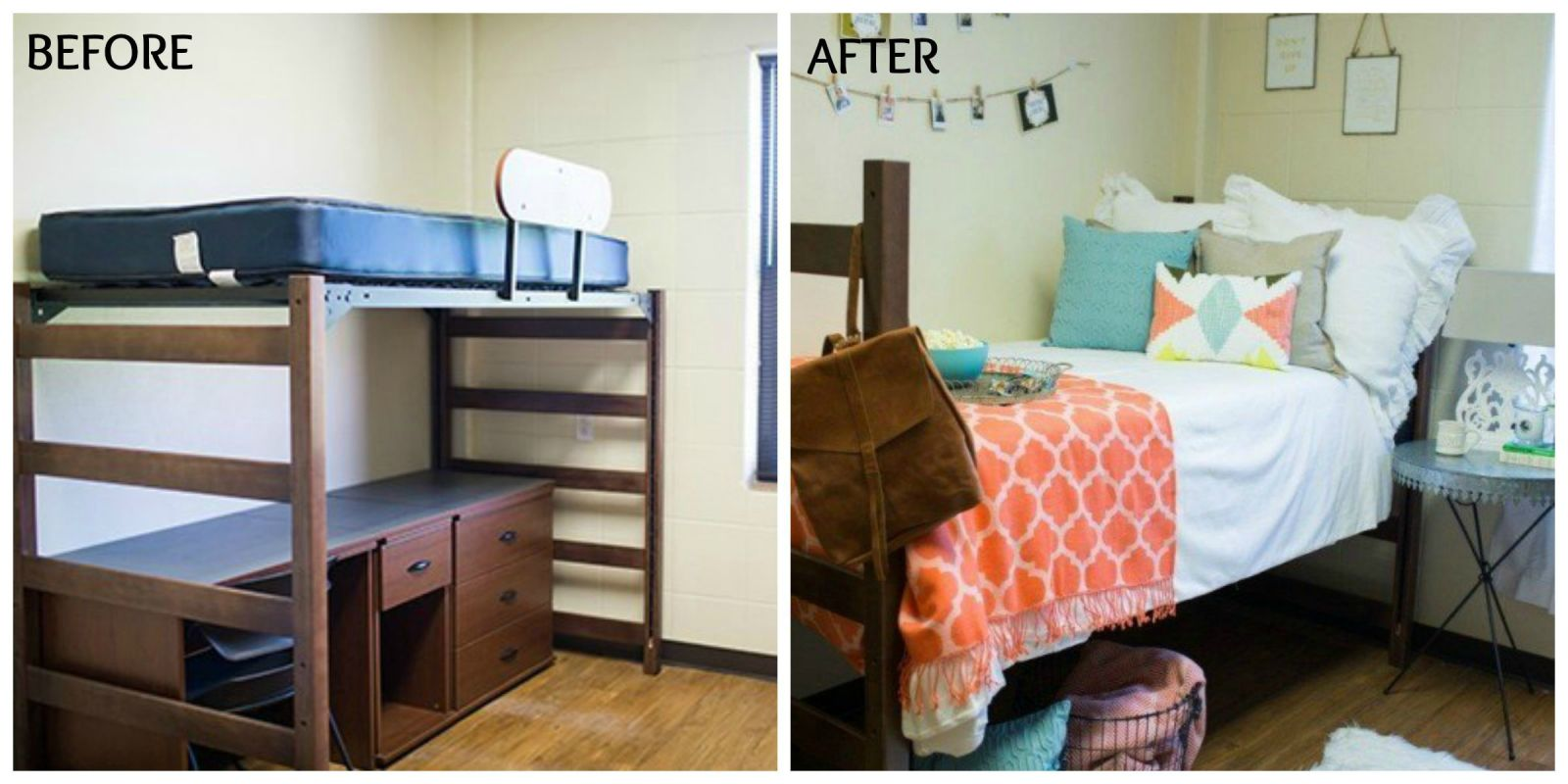 Joanna gaines dorm room makeover magnolia homes decorating - Dorm room bedding ideas ...