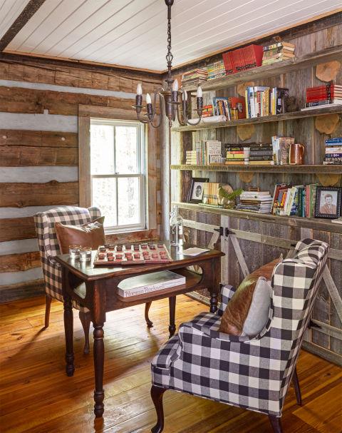 German Wood Paneled Room: Julie And Jimmy Cash Log Cabin