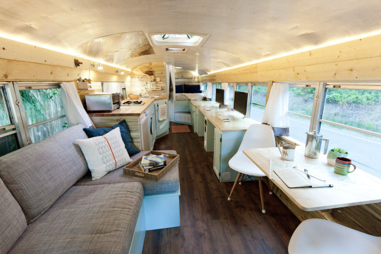 how one couple transformed a school bus into an incredible mobile home - Home Design School