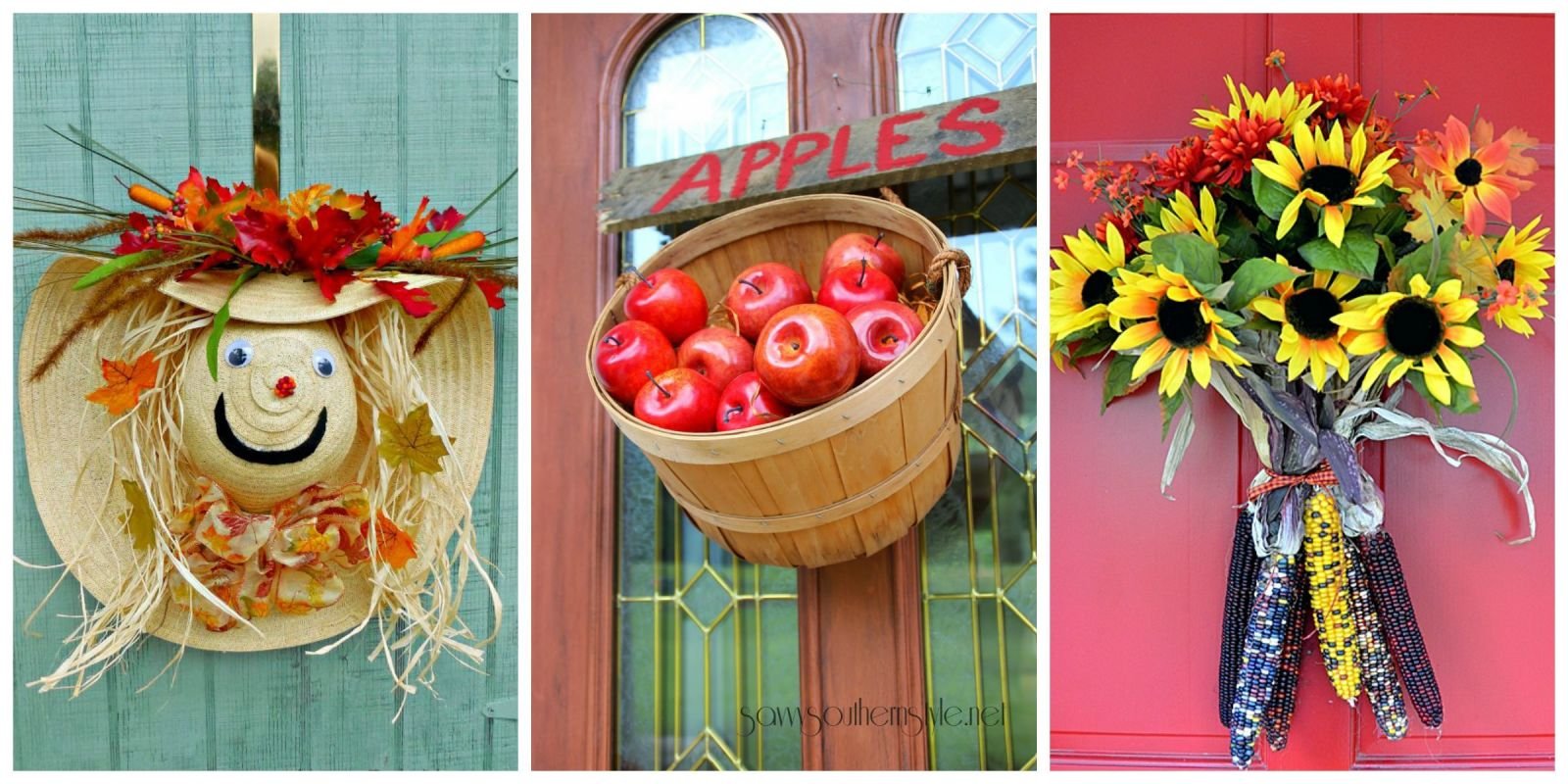 Fall Door Wreath Ideas Part - 40: 18 Fall Door Decorations - Ideas For Decorating Your Front Door For Autumn