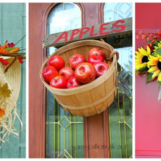 just imagine how good these would look on your door - Crafting Ideas For Home Decor