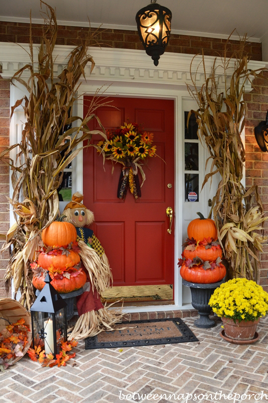 37 Fall Porch Decorating Ideas - Ways to Decorate Your Porch for Fall & outside fall decorating | My Web Value