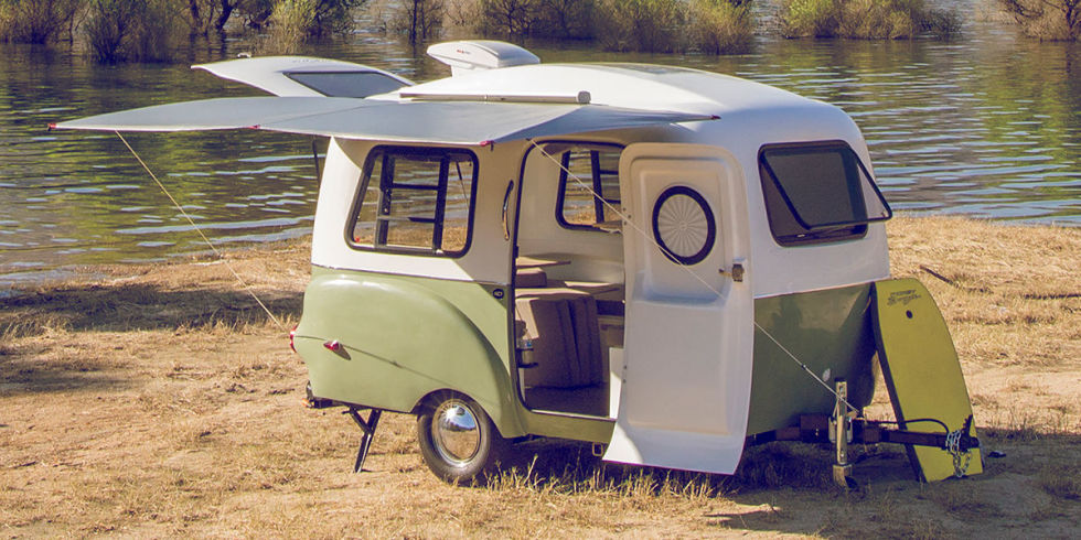 this tiny lightweight camper has room for everything you need and more - Small Camper Trailer 2