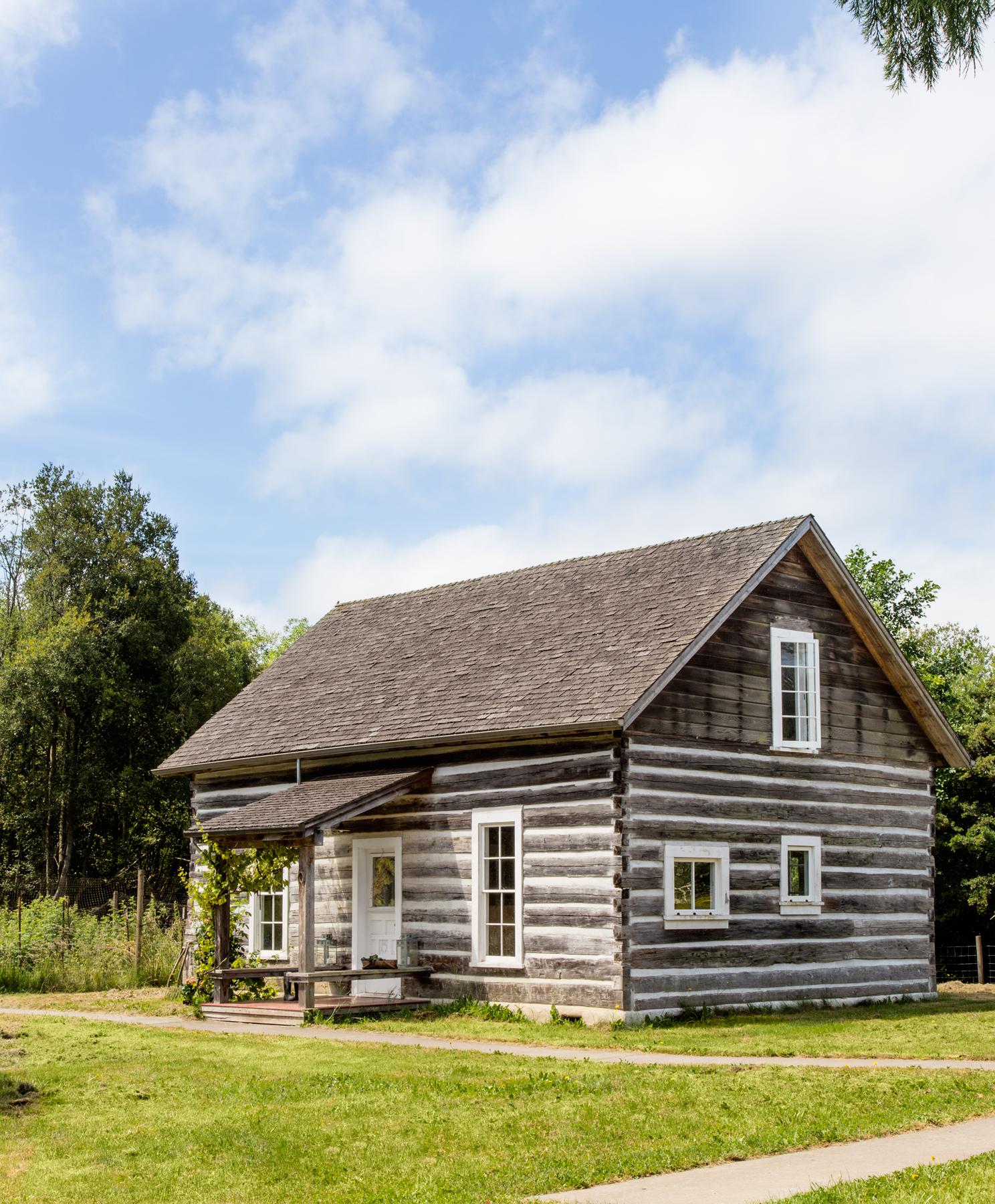 Washington Vashon Island Log Cabin Restored Log Cabin