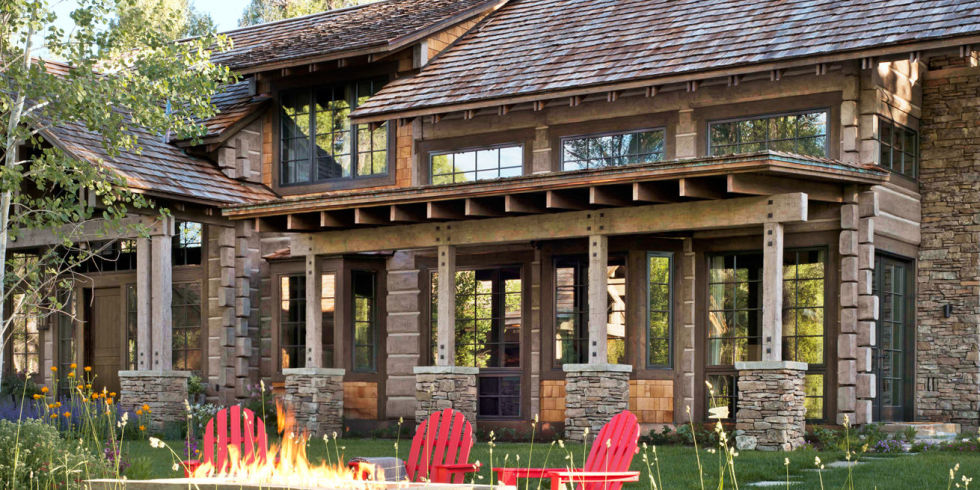 Completed Just Last Year, This Jackson, Wyoming, Retreat Boasts Gorgeous  Grounds, Energy Efficiency, And Clever Design Ideas That Make Roughing It  Downright ...