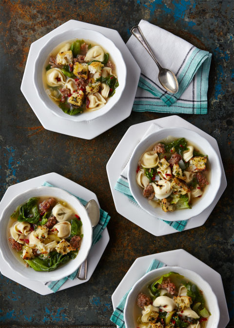 Turn this excellent pasta dish into an even better soup with chicken stock.