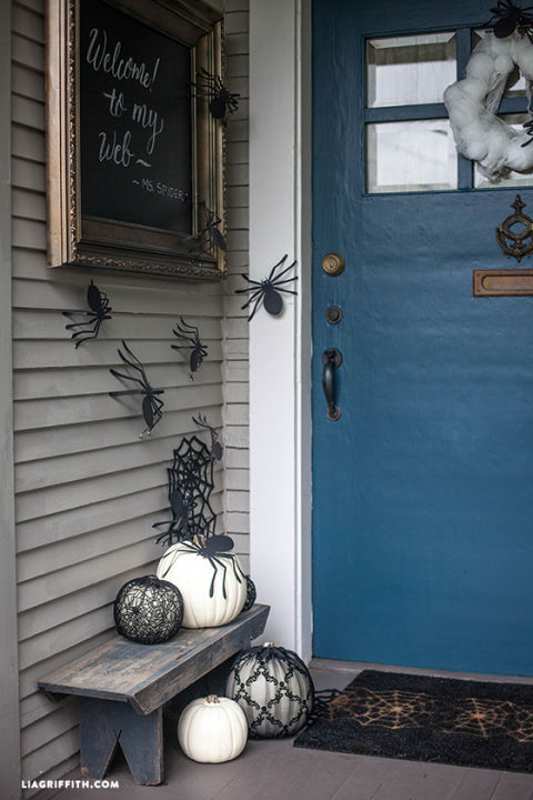 front entrance - How To Decorate For Halloween