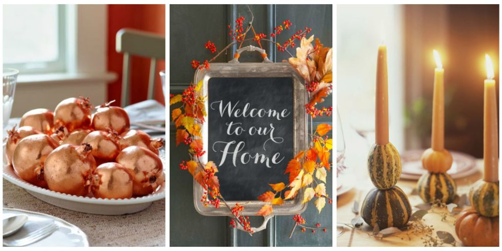 Thanksgiving Home Decorating Ideas 40 Easy Diy Thanksgiving Decorations  Best Ideas For Thanksgiving