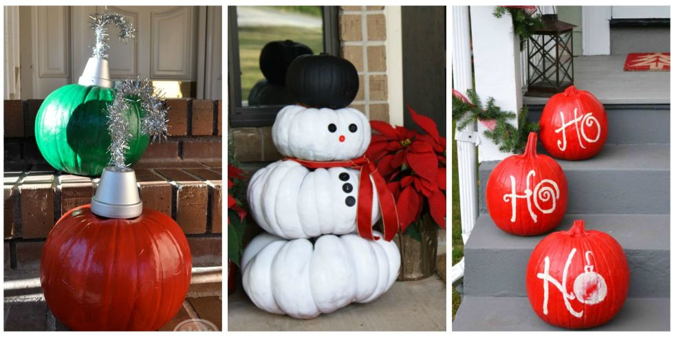 People Decorating For Christmas ways to use pumpkins for christmas - christmas pumpkin decorations