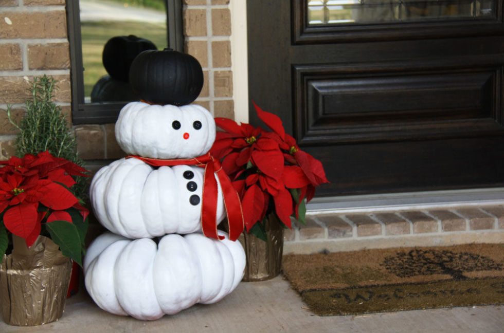 People Decorating For Halloween ways to use pumpkins for christmas - christmas pumpkin decorations