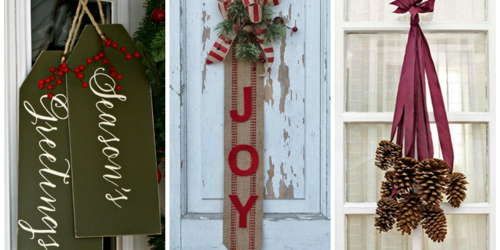 14 diy christmas door decorations holiday door for Door decoration xmas