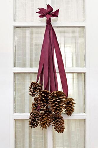Pinecone Door Hanging. The ...