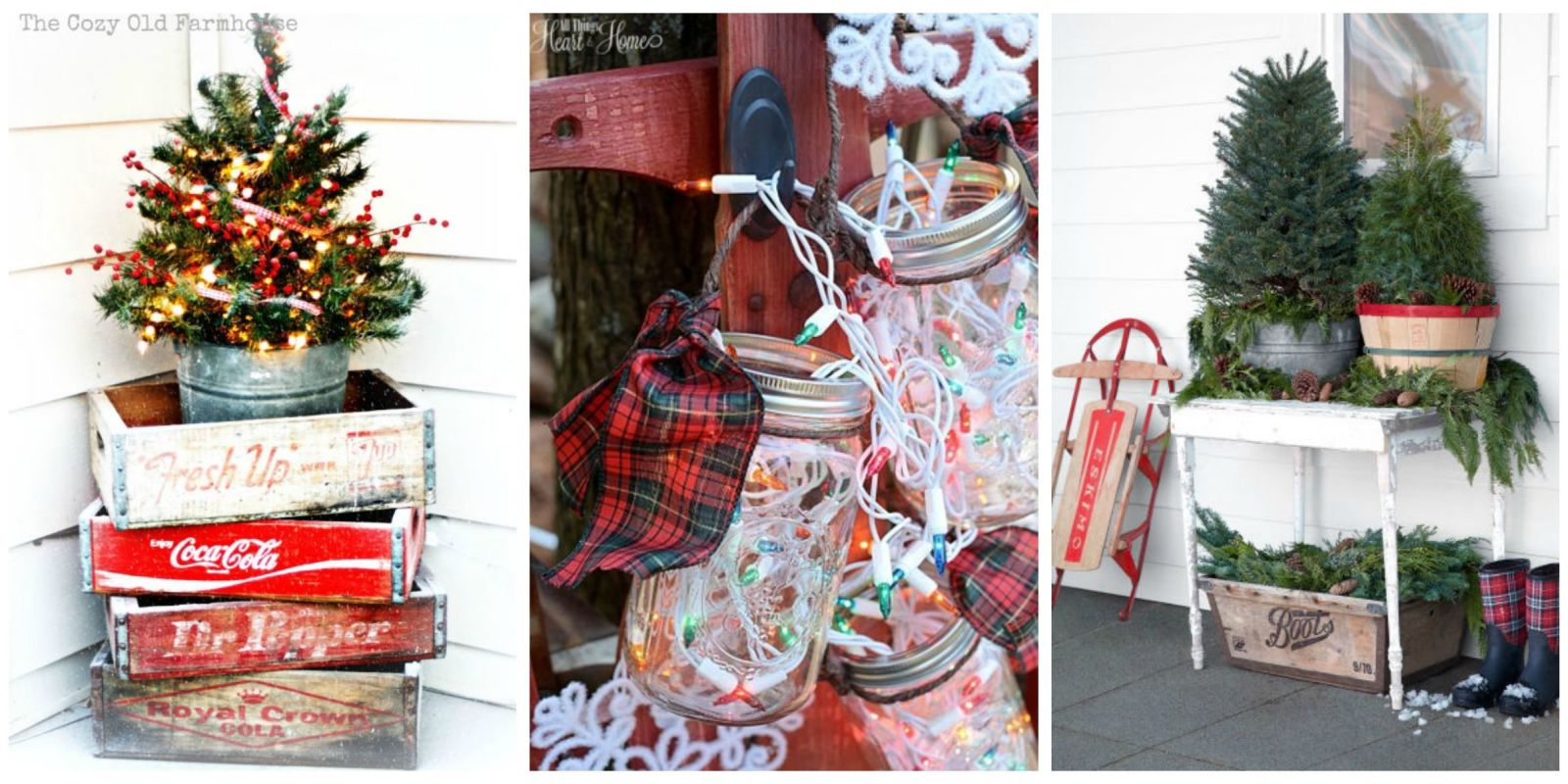 Country Christmas Decor Outside : Outdoor christmas decorations ideas for outside