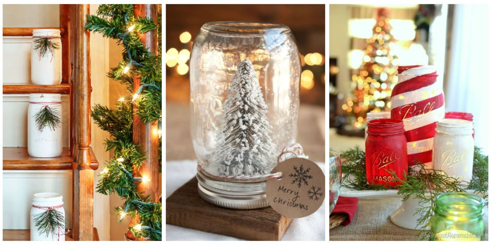 43 mason jar christmas crafts fun diy holiday craft projects for Projects to do with mason jars
