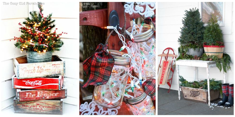 30 outdoor christmas decorations ideas for outside christmas porch decor - Outdoor Christmas Decorations