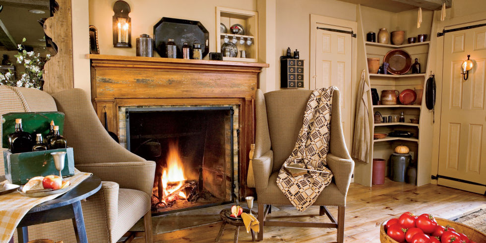 40 country ideas for decorating your fireplace mantel - Fireplace Design Ideas