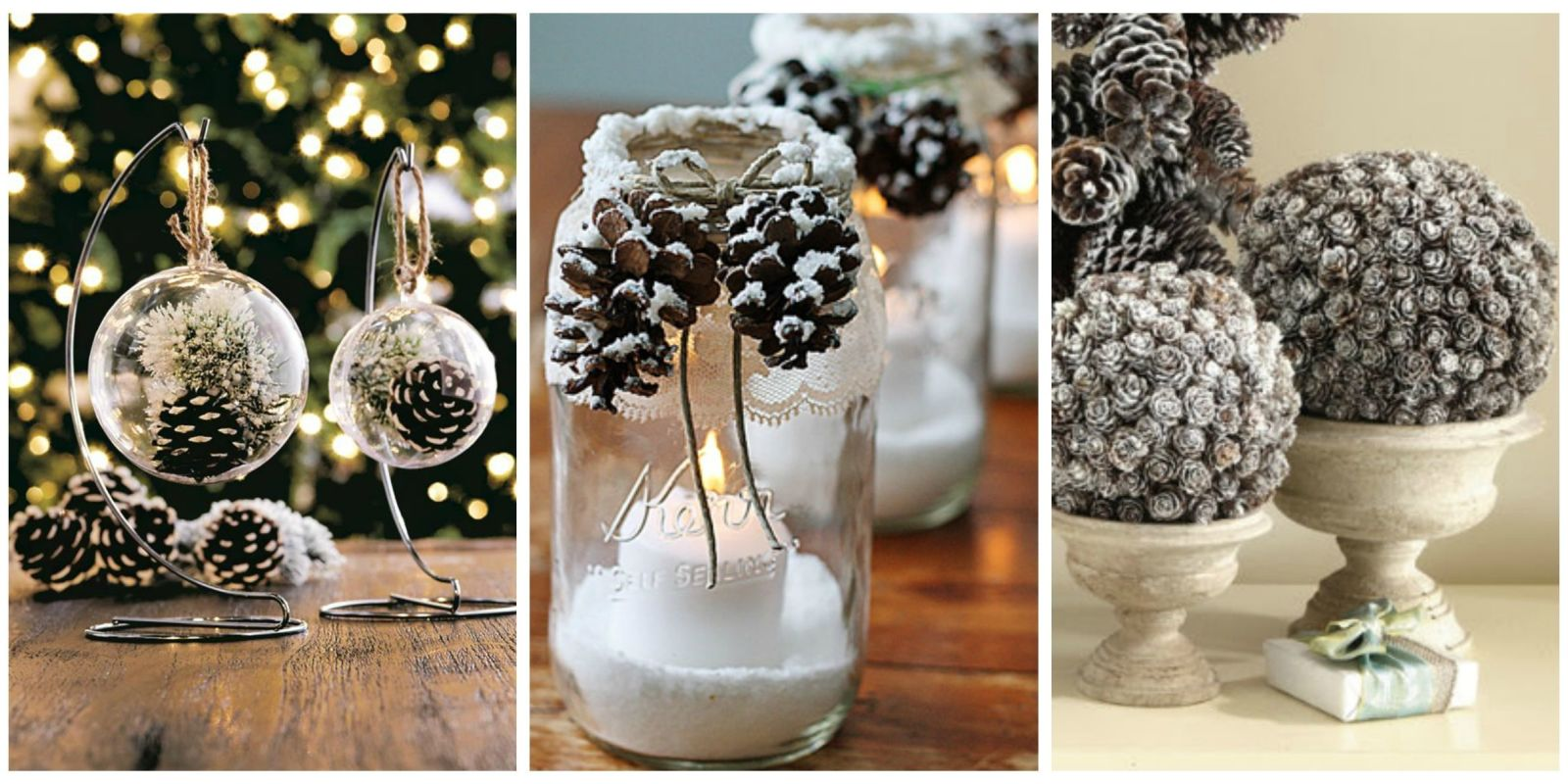 21 holiday pine cone crafts ideas for pinecone christmas for Pine cone christmas ornaments crafts