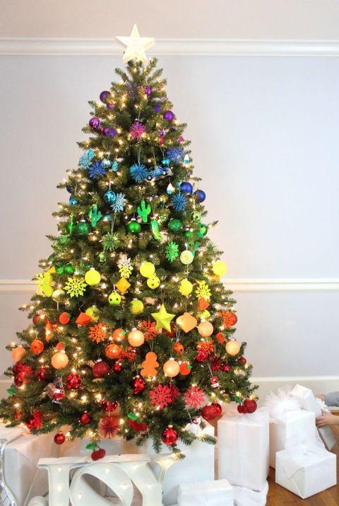 Idyllische Weihnachtsbaum Dekoration