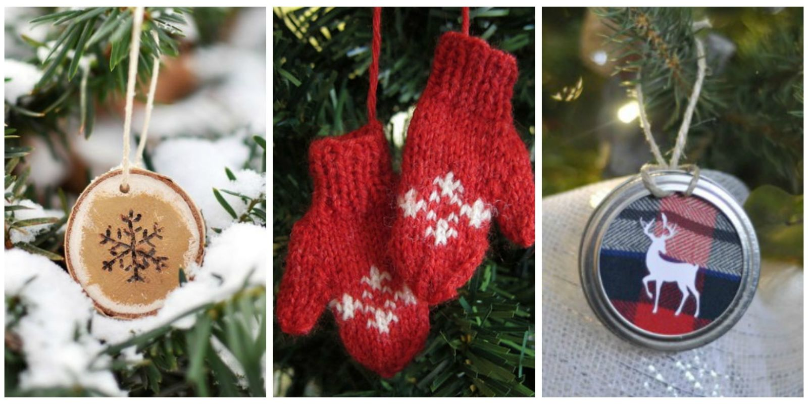50 homemade christmas ornaments diy crafts with for Homemade tree decorations