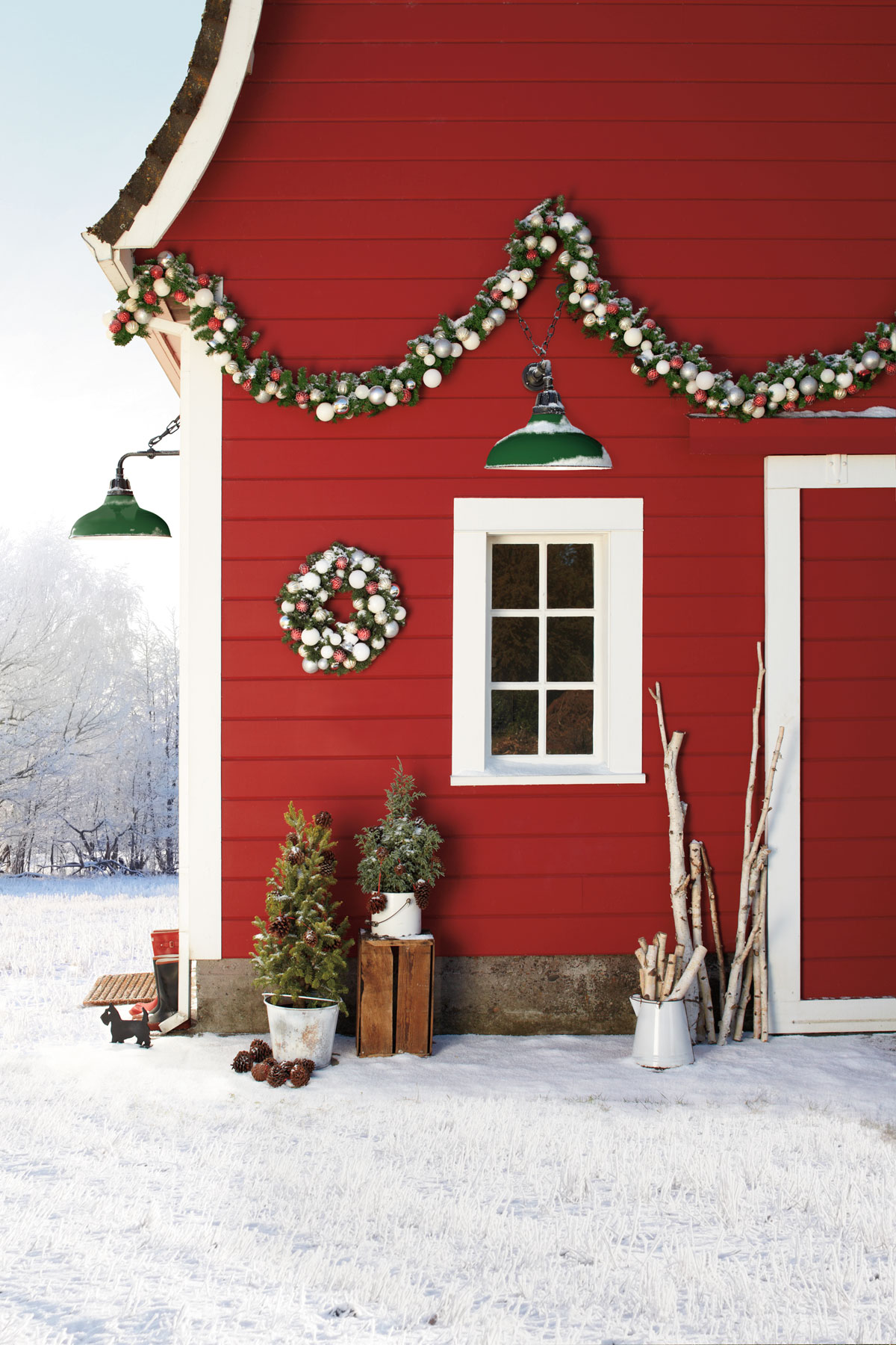 Outside home christmas decorating ideas