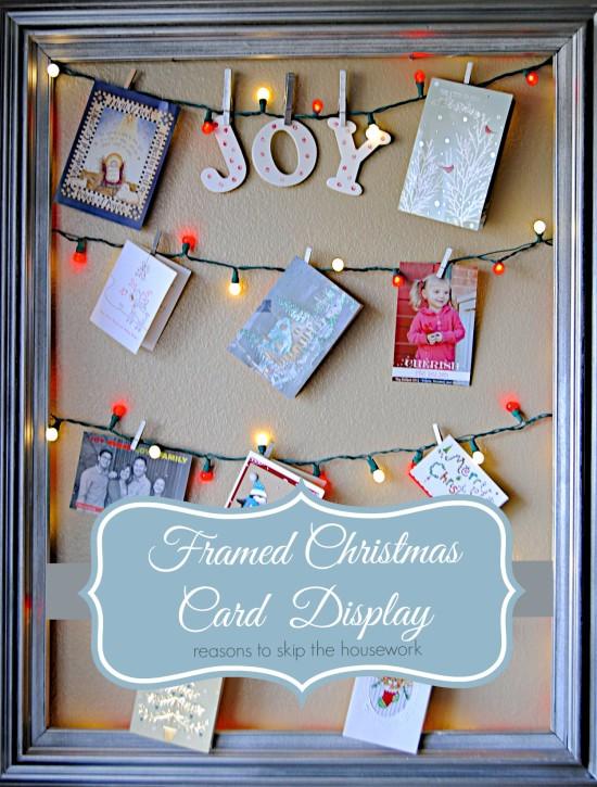 diy christmas card holder ideas  how to display christmas cards, Greeting card