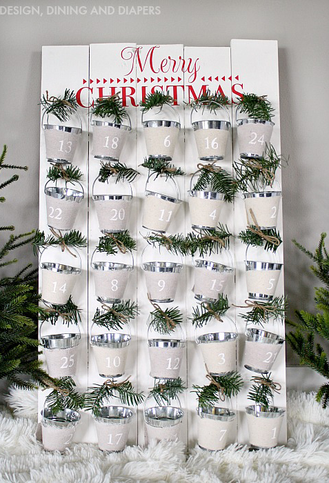 33 diy advent calendar ideas homemade christmas advent for Diy christmas advent calendar ideas