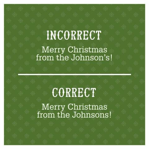 Misspelled Christmas Decorations