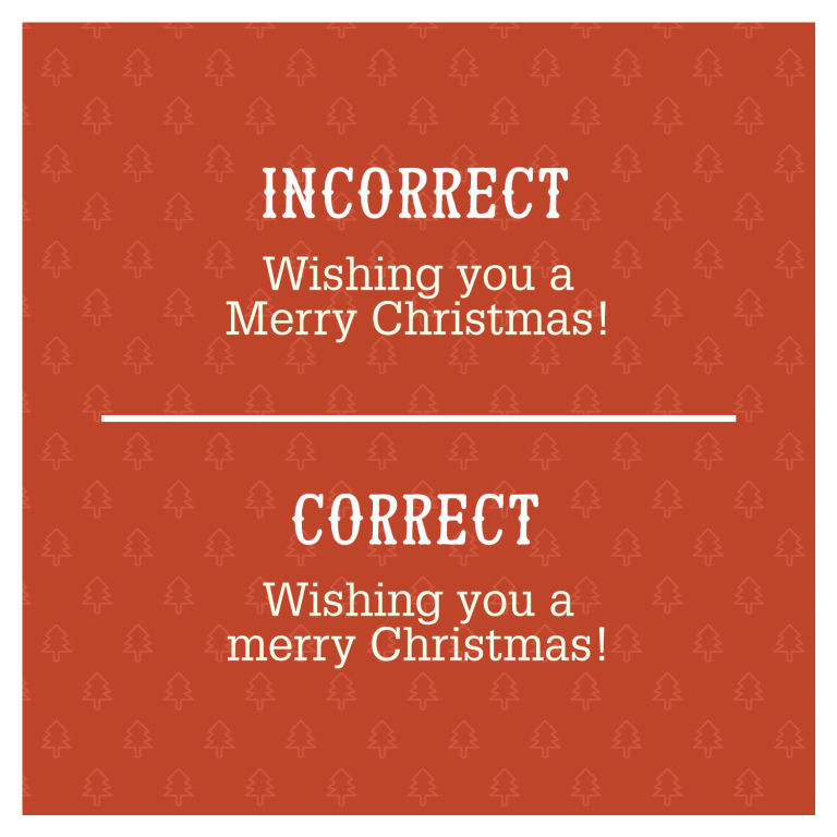 Most Common Grammar Mistakes - Christmas Cards